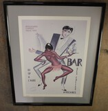 Bar Des Folies Africaines Framed PictureNO RESERVE