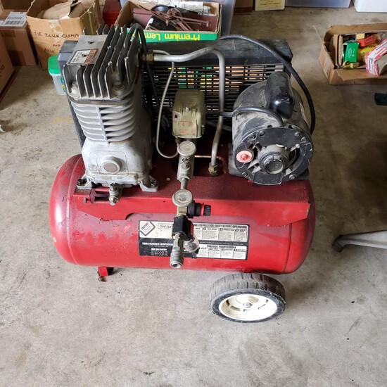Industrial Nail Gun- 2 Electric Drills With Chargers- 1 Electric Sander- 1 Portable Small Compressor