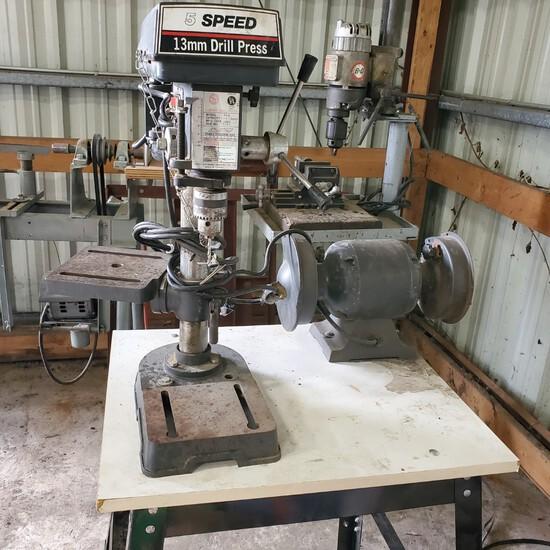 Target Machinery 5 Speed 13mm Drill PressNO RESERVE