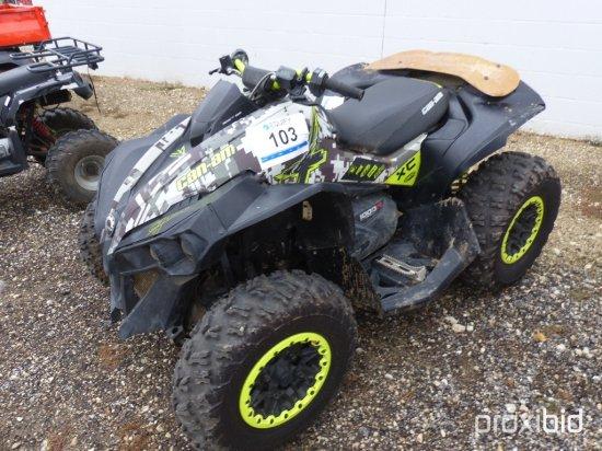 2015 CANAM 5VGA ATV;