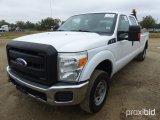 2011 FORD F250 4X4 CREW CAB PICKUP;