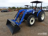 NEW HOLLAND WORKMASTER 55 4WD UTILITY TRACTOR;