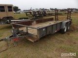 SHOP BUILT 18' FLATBED T/A TRAILER;
