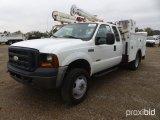 2007 FORD F450 4X4 SERVICE TRUCK;