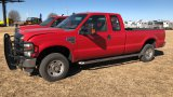 2008 FORD F250 EXTENDED CAB 4WD PICKUP;