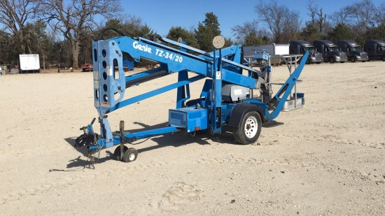 GENIE TZ 34/20 TOWABLE BOOM LIFT;