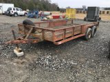 SHOP BUILT 16' T/A TRAILER;