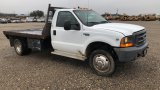 1998 FORD F550 FLATBED;
