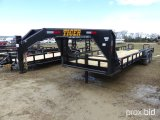 UNUSED 2018 TIGER 24' LOWBOY T/A GOOSENECK TRAILER
