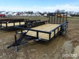 UNUSED 2018 TIGER 16' FLATBED TRAILER;