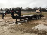 SHOP BUILT 25' GOOSENECK T/A FLATBED TRAILER;