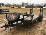 2011 STAGECOACH 18' FLATBED T/A TRAILER;