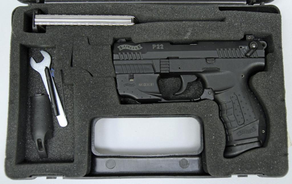 Lot: Walther P22  22 LR Semi-Auto Pistol w/Laser Sight 3 3/8
