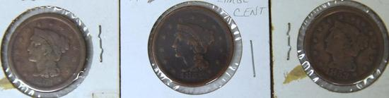 1851, 1852, 1853 Large Cents