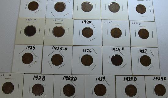 1916,1917,1918,1918D,1919,1919D,1919S,1920,1923,1924,1925,1925D,1926,1926D,1927,1927D,1928,1928D,192