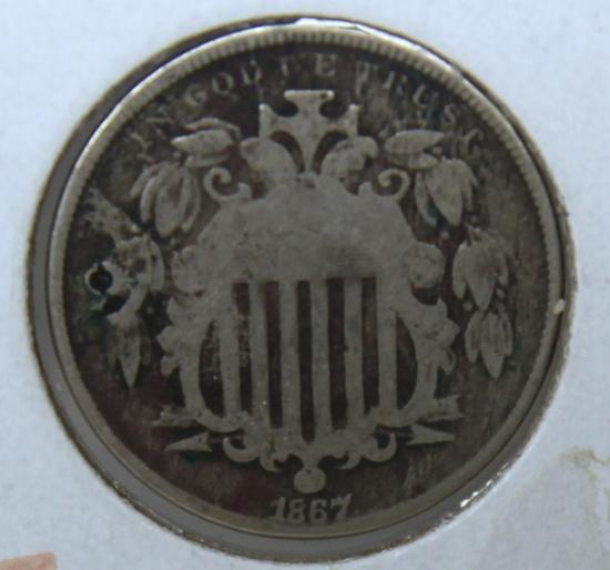 1867 Shield Nickel