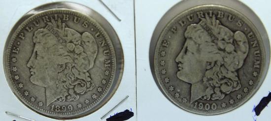 1899O, 1900O Morgan Dollars