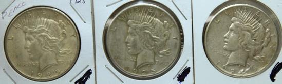 1926, 1926D, 1926S Peace Dollars