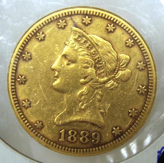 1889S Liberty Head $10 Gold