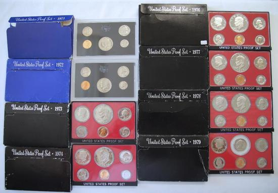 U.S. Mint 1971, 1972, 1973, 1974, 1976, 1977, 1978, 1979 Proof Sets