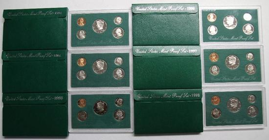 U.S. Mint (2) 1994, 1995, 1996, 1997, 1998 Proof Sets
