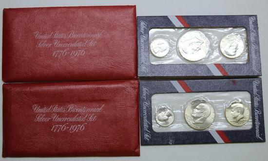 U.S. Mint (2) 1976 U.S. Bicentennial Silver Uncirculated Sets
