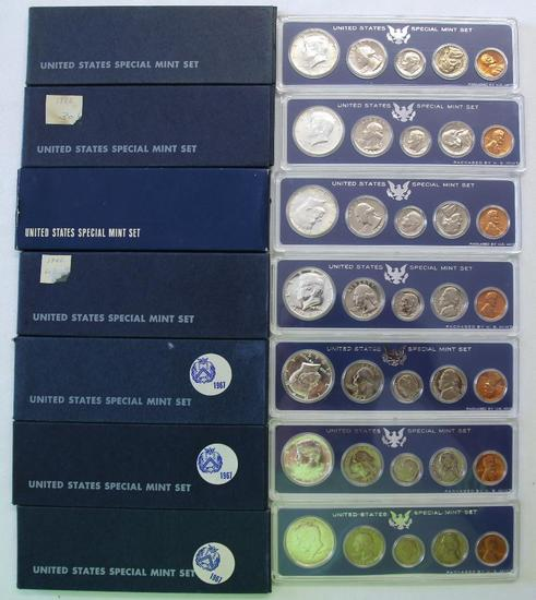 U.S. Special Mint Sets - (4) 1966, (3) 1967
