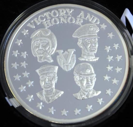 American Royal Mint Operation Yellow Ribbon Desert Storm 16 oz. .999 Silver Persian Gulf War