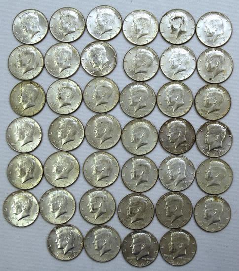 (40) 40% Silver 1965-1969 Kennedy Half Dollars