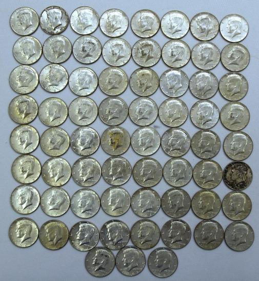 (67) 40% Silver 1965-1969 Kennedy Half Dollars
