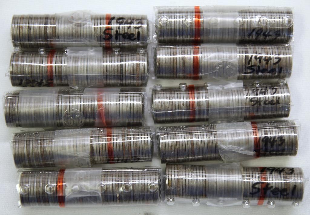 (500) 1943 Steel Zinc Wheat Cents