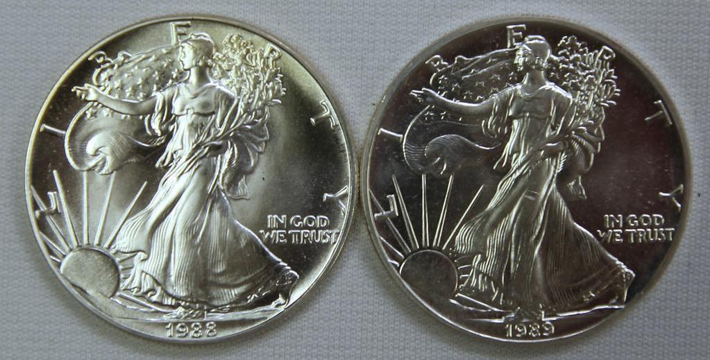 1988, 1989 Silver Eagles