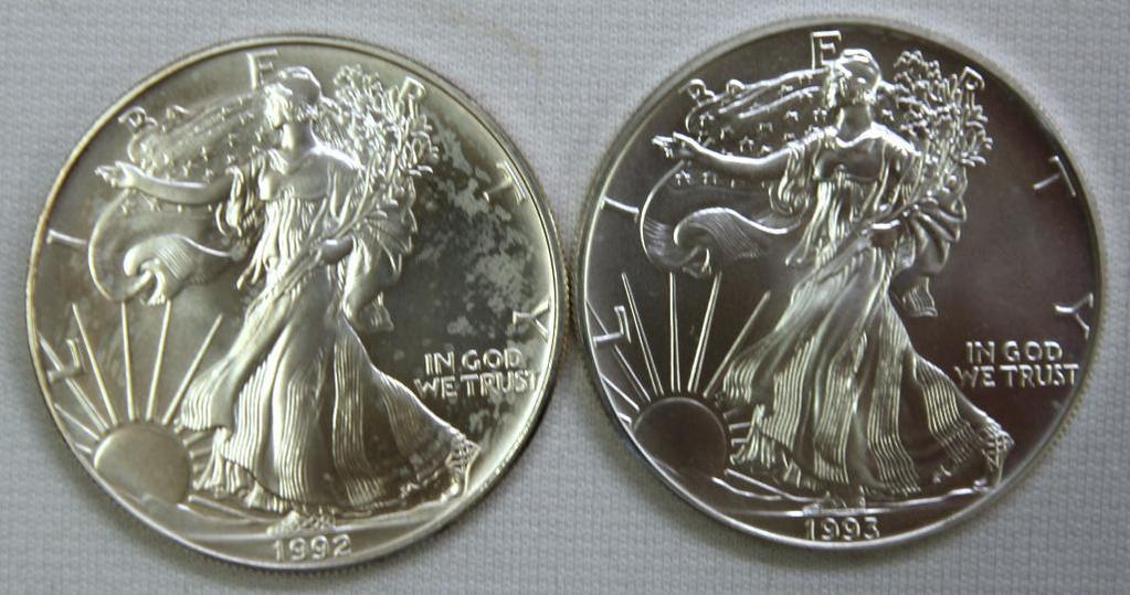 1992, 1993 Silver Eagles