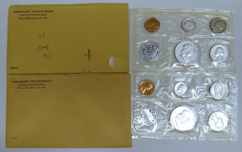 U.S. Mint 1961 and 1962 Proof Sets