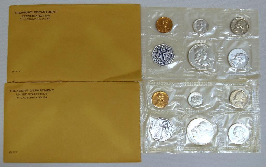 (2) U.S. Mint 1962 Proof Sets