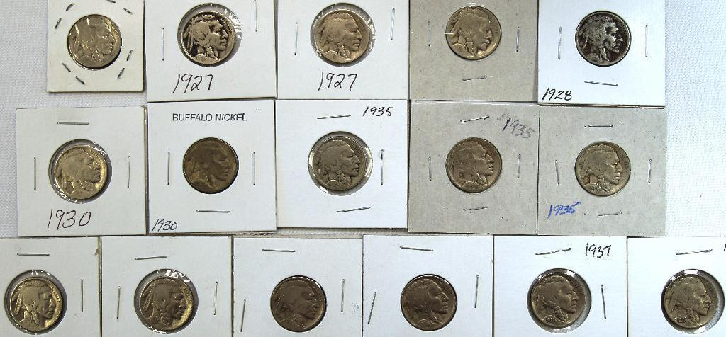 1923,(2)1927,(2)1928,(2)1930,(3)1935,(4)1936,(2)1937 Buffalo Nickels