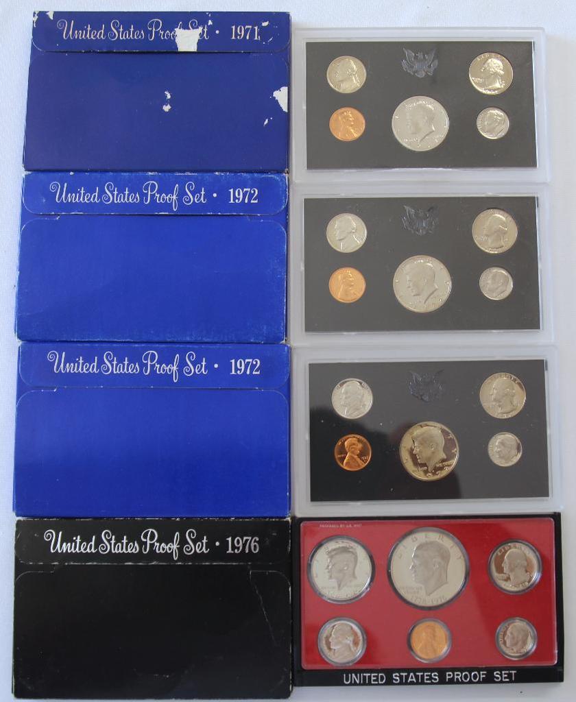 U.S. Mint 1971, (2) 1972, 1976 Proof Sets