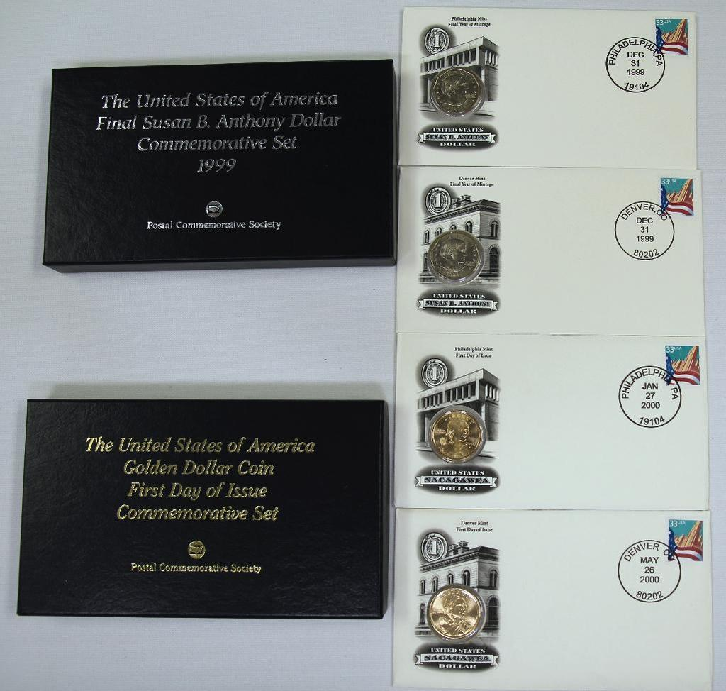 Postal Commemorative Society The United States of America Final Susan B. Anthony Dollar