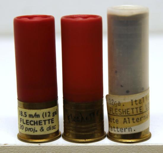 3 Collectible 12 Ga. Flechette Shotshells - 2 Western Super-X, 1 Italian Fiochhi