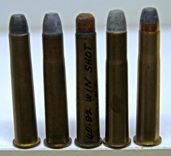 5 .40/82 WCF Collector Cartridges - UMC, Rem UMC, UMC Shot, WRACo, CCC