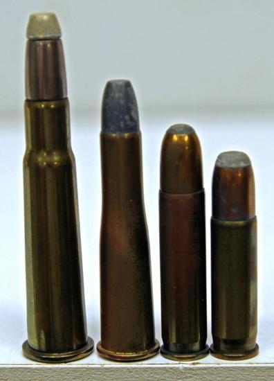 Rem UMC .33 Winchester, Unmarked UMC .32/40 Bullard, Western .351 Winchester S.L.R., WRACo .35