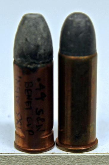 2 Inside Primed .44 S&W Special Collector Cartridges