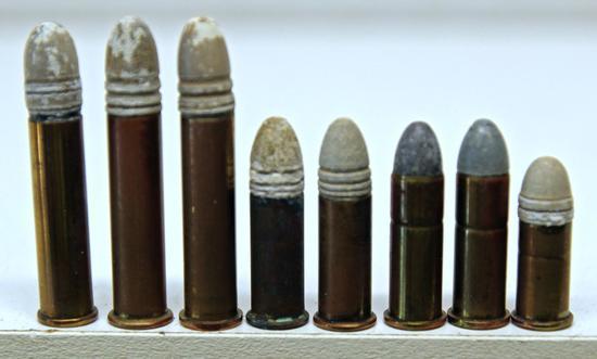 3 .32 Extra Long C.F., 2 .32 Long C.F., .32 Short C.F. Collector Cartridges - WRACo., UMC, Rem UMC