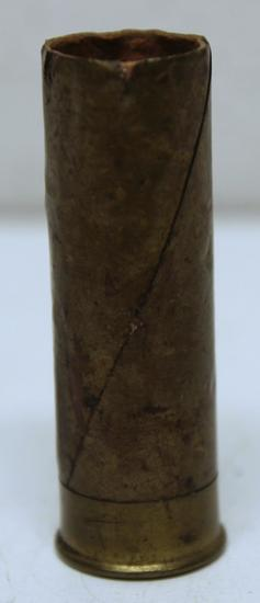 Eley 12 Ga. Nitro Ball Empty Collectible Shotshell - Coil Wrapped Brass over Paper