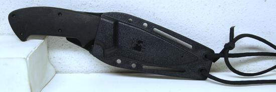 "CRKT Polkowski Kasper Fixed Blade Hunting Knife in Sheath, 4"" Blade, 8 5/8"" Overall"