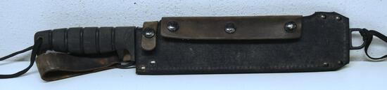 """SP Spec Plus Machete No. SP8-95 with Nylon and Leather Sheath, 10"""" Blade, 15"""" Overall"""