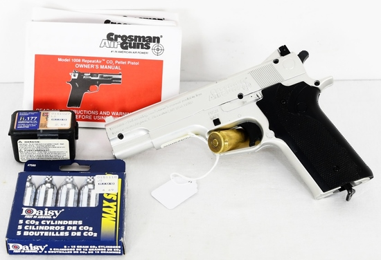 Crosman 1008 Repeater Air Gun with Pellets & papes