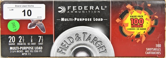 100 Federal 20 Ga. Multi Purpose Load 2 3/4""