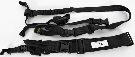 Lot of 2 Black Tactical Slings 3pt & Israeli
