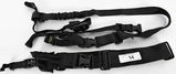 Lot of 2 Black Tactical Slings 3pt & Israeli